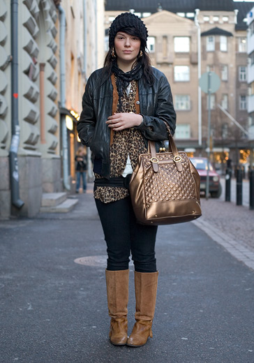 HEL LOOKS | Anna (17) :  fashion leather purse leopard
